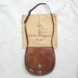 RARE Vintage Salvatore Ferragamo Cognac Saddle Bag